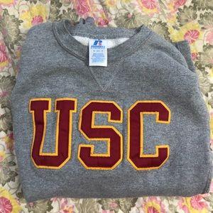 Gray USC sweater